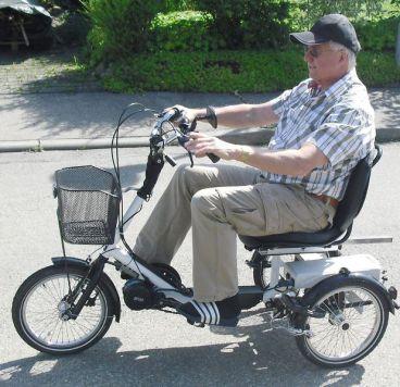 "16"" Disco-Junior mit Bafang-Tretlagermotor ; das kompakteste Dreirad am Markt"